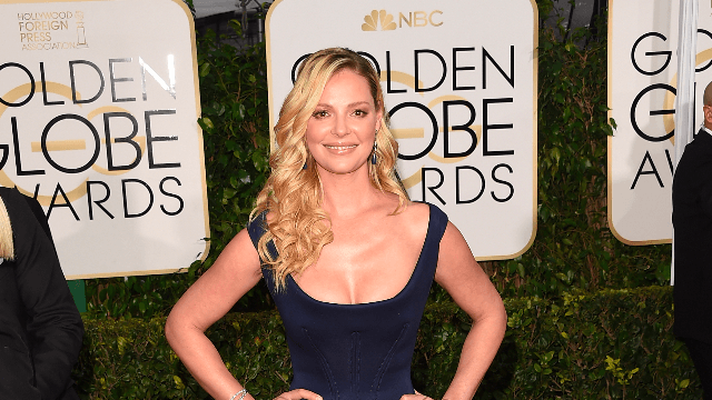 Katherine Heigl reacts to Seth Rogen's comments on their 8-year-old feud.