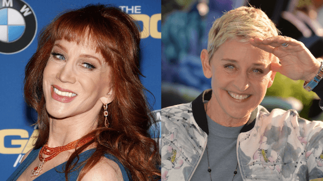 Kathy Griffin claims our beloved Ellen DeGeneres is secretly a bully to other women.