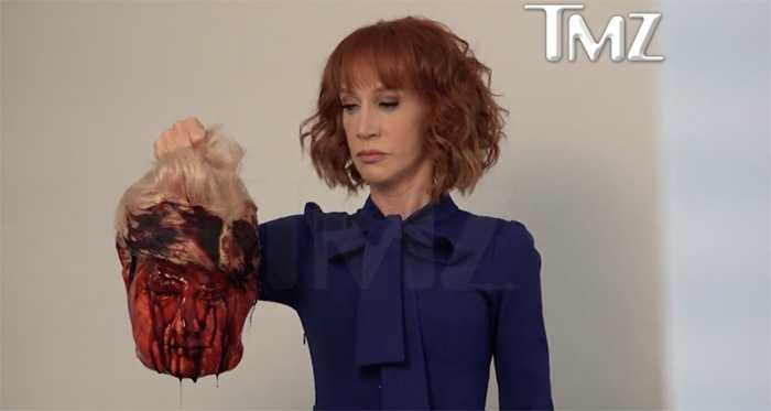A still from Kathy Griffin's behind-the-scenes video of the photo shoot.