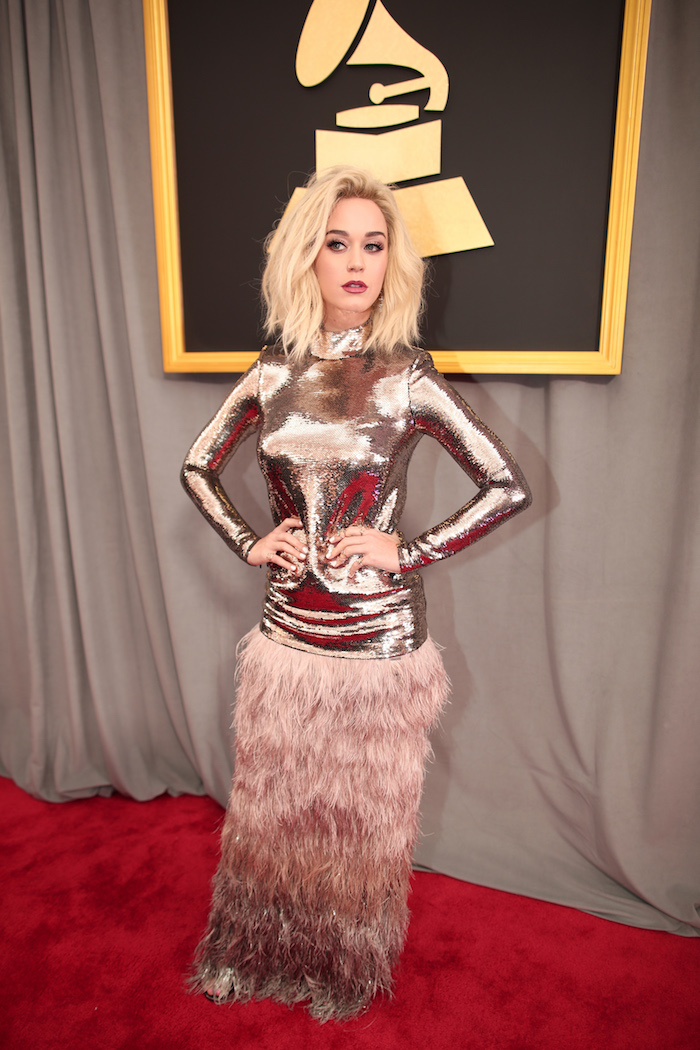 Katy Perry's look is C-3P0 on top and Chewbacca on the bottom and somehow, it's working.