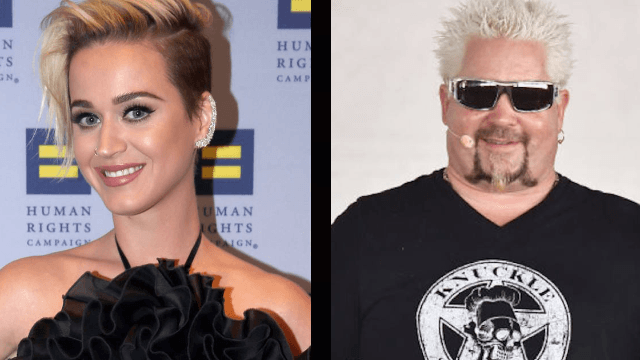 Katy Perry took us all to 'Flavortown' on 420 by dressing up as Guy Fieri. It's pretty convincing.