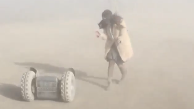 Let's admire Katy Perry's grace while hilariously falling off a Segway at Burning Man.