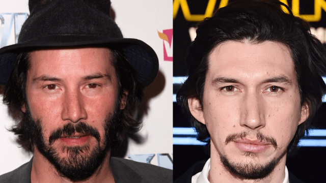 Keanu Reaves and Adam Driver have the same face and it's freaking everyone out.