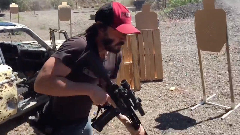 New video shows that Keanu Reeves is insanely good at firing actual, real guns.