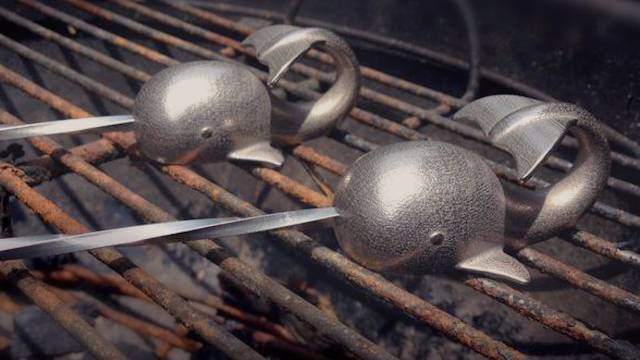 Kebabs are no match for these narwhal skewers.
