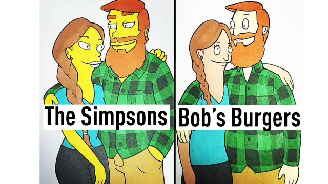 2018's best boyfriend is this guy who drew him and his girlfriend in 10 different cartoon styles.