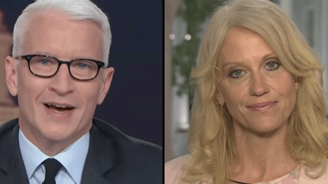 Revel in the glory of Anderson Cooper openly rolling his eyes at Kellyanne Conway.