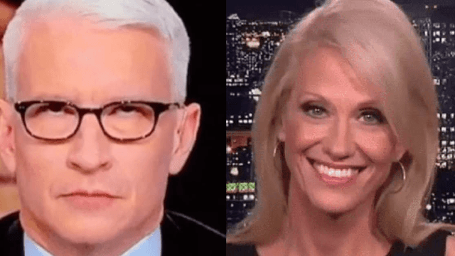 Kellyanne Conway accuses Anderson Cooper of sexism after he rolled his eyes at her.