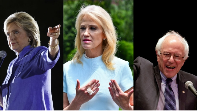 Kellyanne Conway bizarrely defended Bernie Sanders after Hillary Clinton claimed: 'no one likes him.'