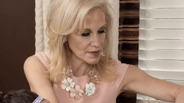 Kellyanne Conway has a framed picture of herself in her house and Twitter can't stop laughing.