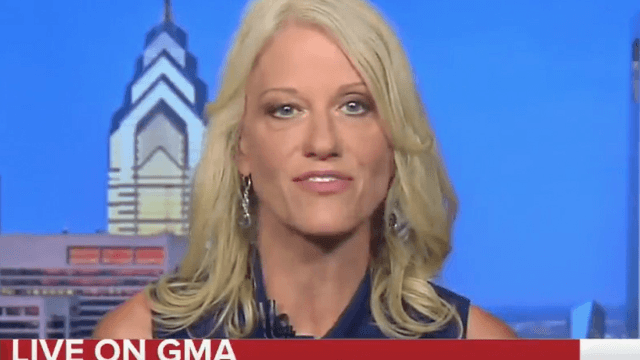 'GMA' confronted Kellyanne Conway with video of her lying about Donald Trump Jr. Take cover.