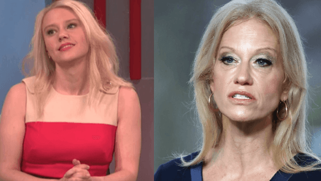 Kellyanne Conway has just one gripe with Kate McKinnon's impression of her.