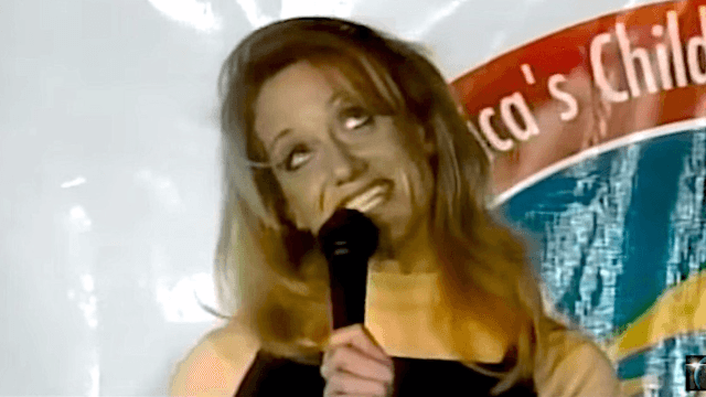 Watch Kellyanne Conway totally bomb in this awkward attempt at standup comedy.