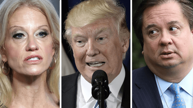 Kellyanne Conway's own husband just took shots at Trump's latest Twitter rant.