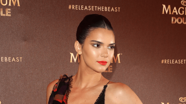Kendall Jenner wore half a peacock at Cannes, a wild outfit that allows maximum cleavage.