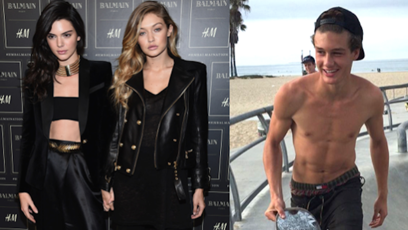Kendall Jenner and Gigi Hadid got a hot homeless skateboarder a modeling contract.