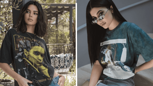 Kendall and Kylie Jenner use their new T-shirts to claim they're more important than Tupac.