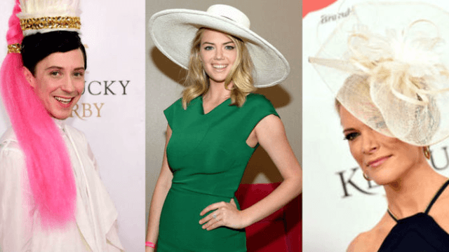 These celebritiess wore crazy Kentucky Derby hats, because they need a lot of attention.