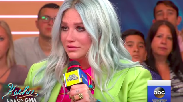 Kesha breaks down on 'Good Morning America' after just one question.