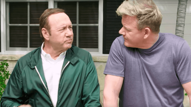 Kevin Spacey and Gordon Ramsay had a swearing contest, and it was f**king glorious.