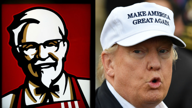 KFC trolls Trump's relationship with North Korea by challenging McDonald's on Twitter.