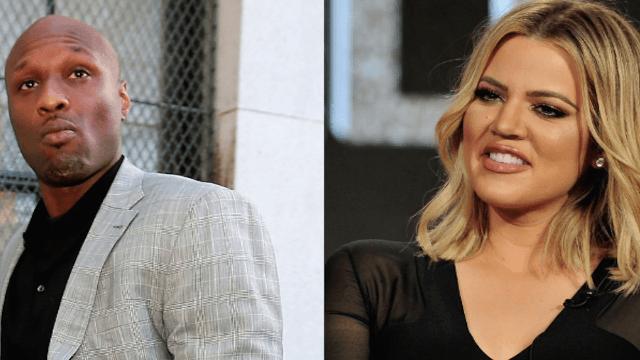 Khloe Kardashian officially drops Lamar Odom's name with a weird, celebratory cake.