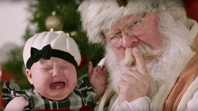 Slo-mo footage of kids crying on Santa's lap is the perfect antidote to Christmas cheer.