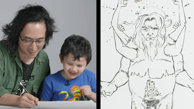 Kids described God to an illustrator and the results were blasphemous.