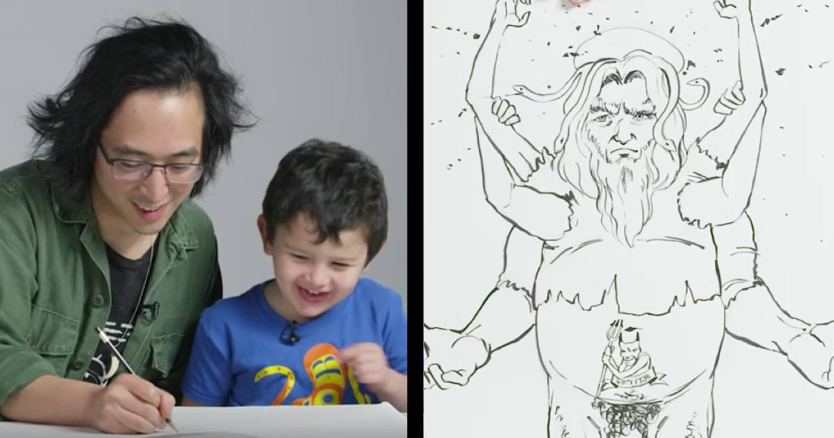kids described god to an illustrator and the results were