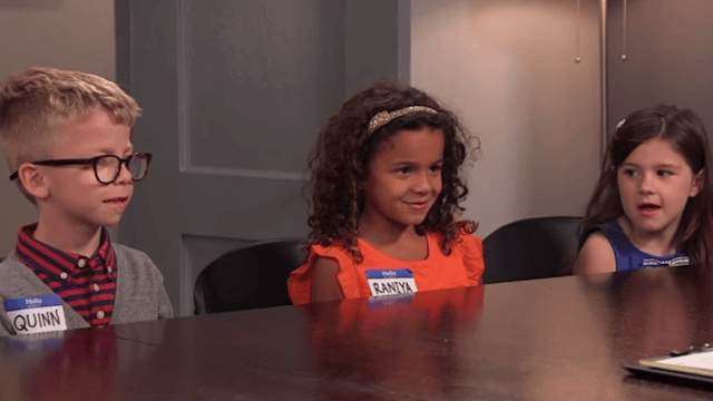 Watch kids give their weird opinions on the debate and be glad they can't vote.