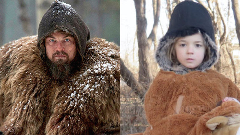 Mom uses her adorable kids to recreate images from the Oscar Best Picture nominees.