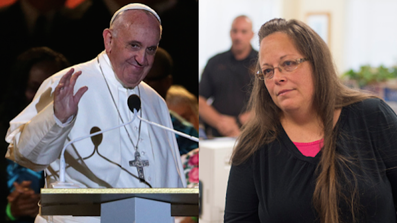 The Vatican spoke out on the secret meeting between Kim Davis and the Pope, reassured us Francis still cool.