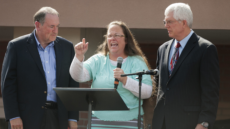 The band Survivor is pissed Kentucky clerk Kim Davis used their song without a proper license.