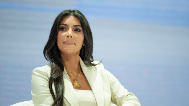 Kim Kardashian says story about her gifting North West with JFK's bloody shirt was fake.