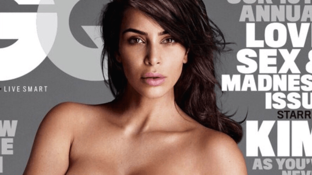 Kim Kardashian posed on another magazine cover wearing her favorite 'outfit.'
