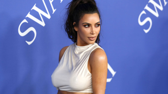 Kim Kardashian is using her grandmother to sell body makeup, and we're kind of sold.