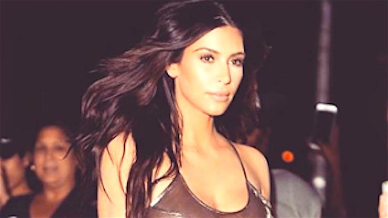 Kim Kardashians Boobs Were The Biggest Celebrity At Kanyes Concert