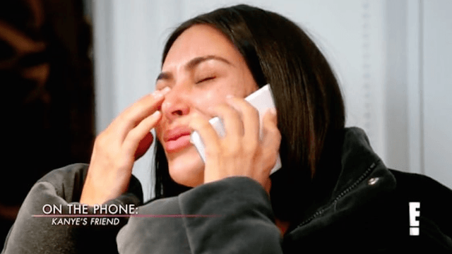This is the moment Kim Kardashian learned about Kanye West's hospitalization in November.
