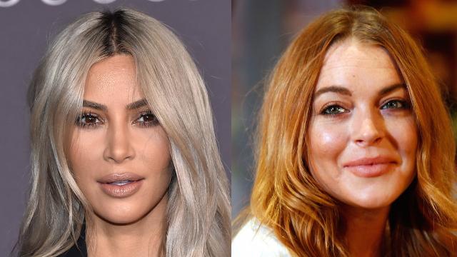 Kim Kardashian savagely replied to Lindsay Lohan after she criticized her cornrows.