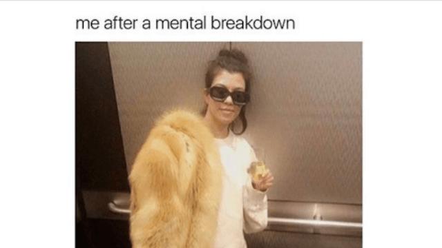 Twitter slams Kourtney Kardashian for wearing fur and mocking mental illness, all in one photo.