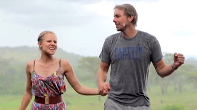 Kristen Bell and Dax Shepard lip synced a music video in the rains down in Africa. Guess which song?