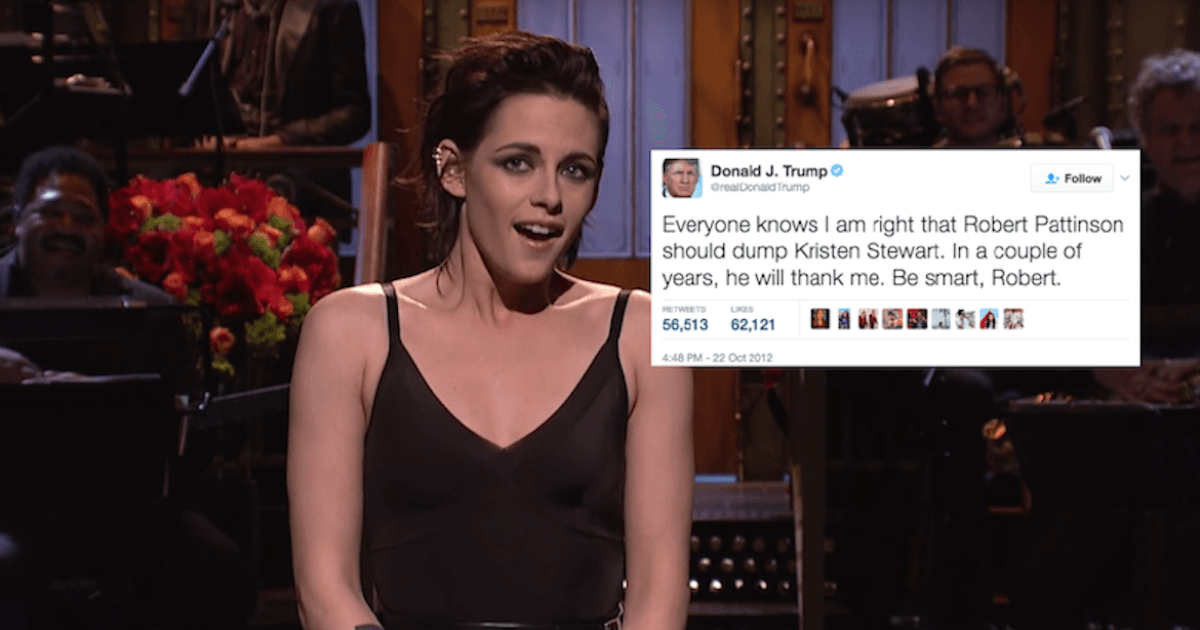 Kristen Stewart Addresses Trump S Tweets About Her And
