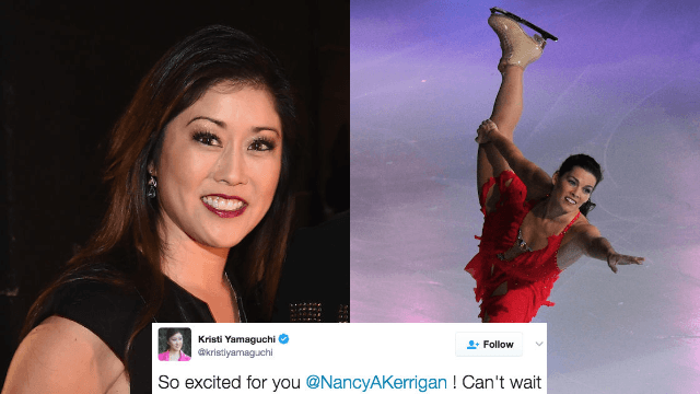 Kristi Yamaguchi‏ wished Nancy Kerrigan luck on 'DWTS' with possibly the worst choice of words ever.