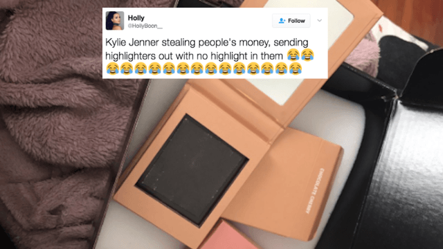 Kylie Cosmetics accidentally sent customers empty highlighters, and people are freaking.
