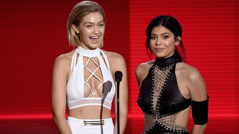 Maybe watching Kylie Jenner spank Gigi Hadid will help you remember who Gigi Hadid is.