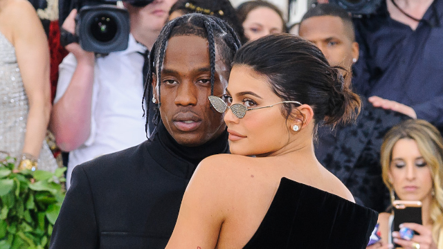 Kylie Jenner and Travis Scott spark backlash by taking couples selfie in handicapped parking spot.