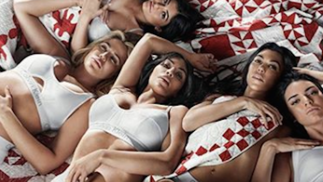 Kylie Jenner posed in underwear with all her sisters but with one noticeable difference.
