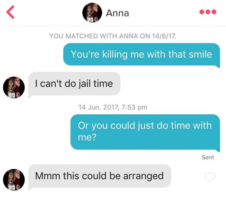 25 Tinder pickup lines no one would have the balls to say in real