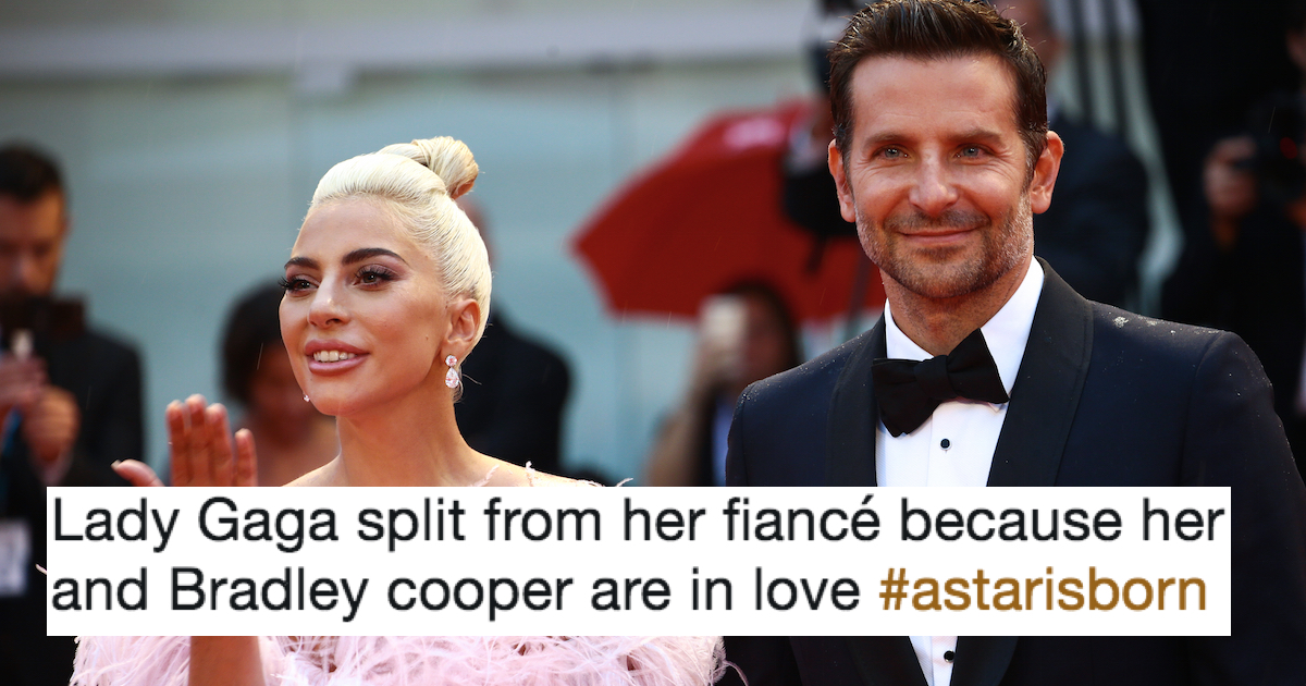 Lady Gaga splits from fiance and the Bradley Cooper romance rumors are born.