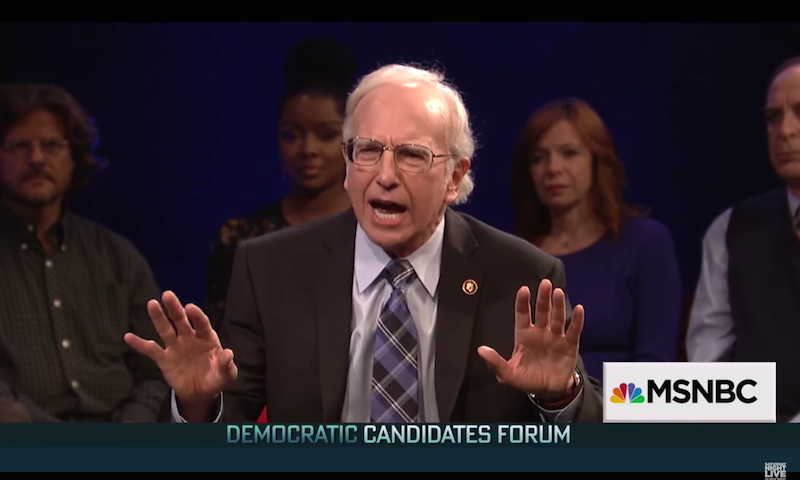 Larry David is back as Bernie Sanders in a Trump-less 'SNL' cold open.